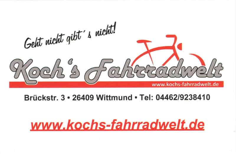 Fahrradverleih Wittmund Kochs Fahrradwelt